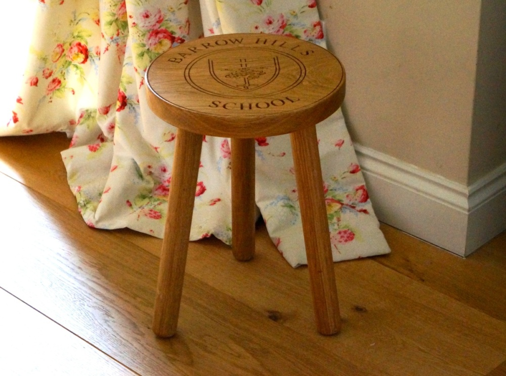 Personalised Wooden Button Stool Make Me Something Special