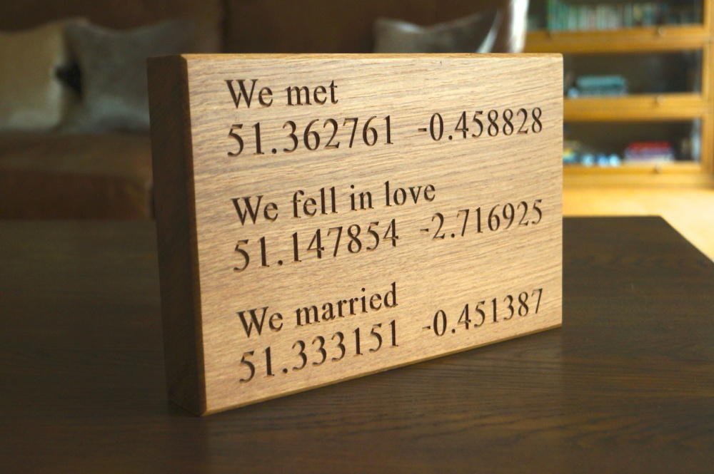 Personalised Wedding Gift Ideas Uk : 5th Wedding Anniversary Wooden Gift Ideas from MakeMeSomethingSpecial ...