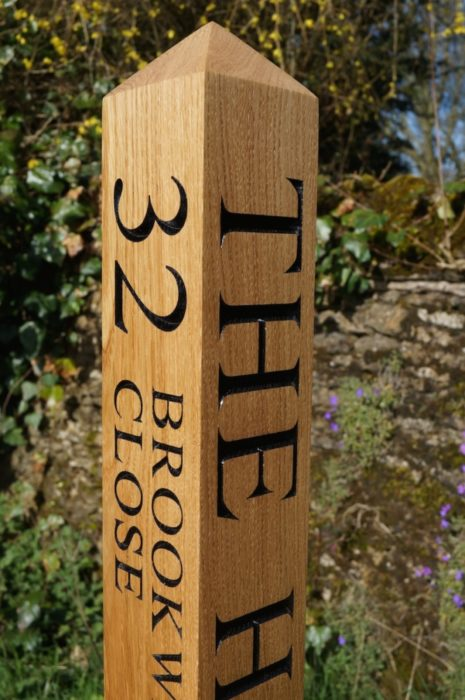 engraved-wooden-sign-posts-makemesomethingspecial.co.uk
