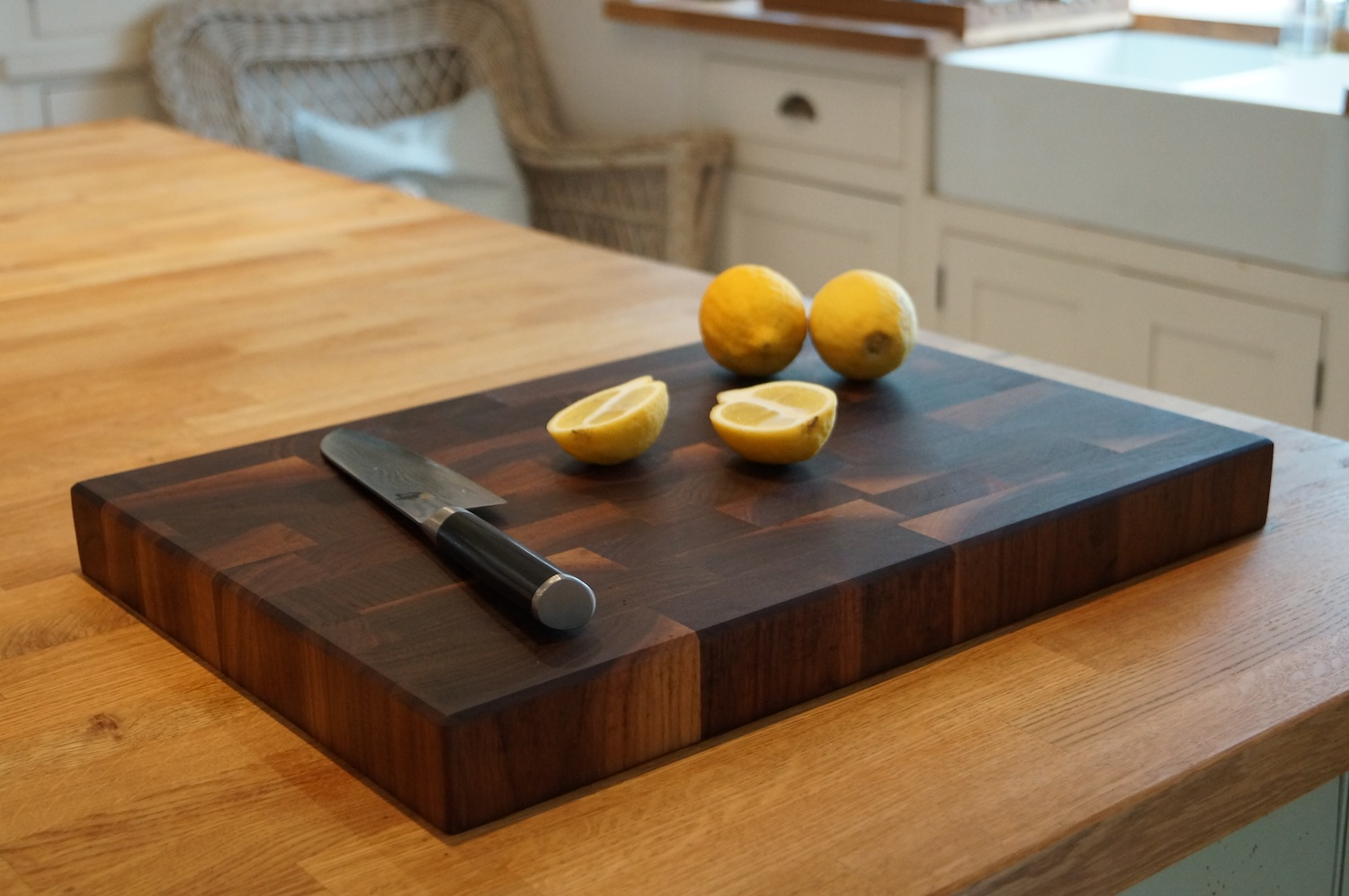 LARGE Rectangular Cutting Board for Food Preparation and Presentation - Premium Solid Natural Olive Wood Reversible Chopping Board MADE IN ITALY - Perfect in kitchen, on table or to share food at part.