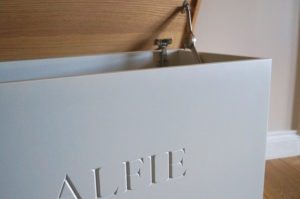 grey-painted-wooden-toy-box-makemesomethingspecial.com