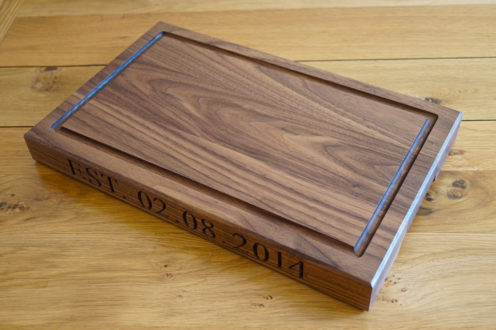 Wood Cutting Board: Perfect as both a cutting surface and serving piece, wood cutting boards are available in oak, walnut, maple, cherrywood, ash and teak. Cutting Board with Well: Available in wood and plastic, cutting boards with wells feature grooved sides that catch run-off juices.