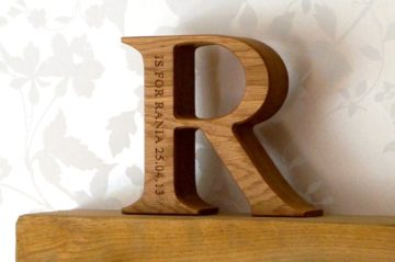 Engraved Wooden Letters