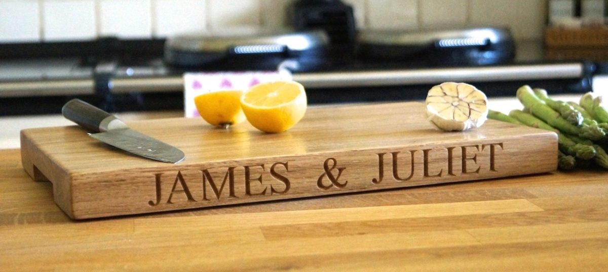 Engraved Oak Chopping Boards from MakeMeSomethingSpecial.co.uk