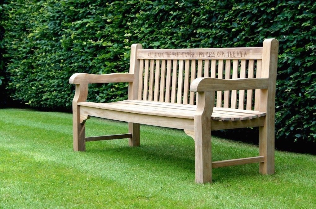 Wonderful Memorial Wooden Garden Bench