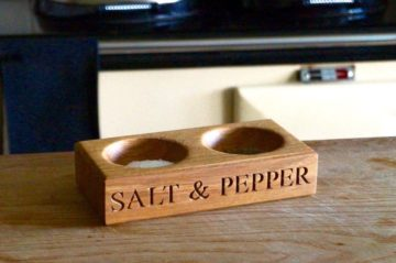 Wooden Salt and Pepper Bowls