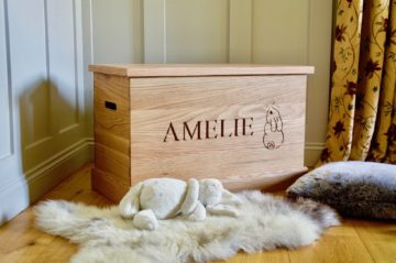 Personalised Wooden Toy Boxes